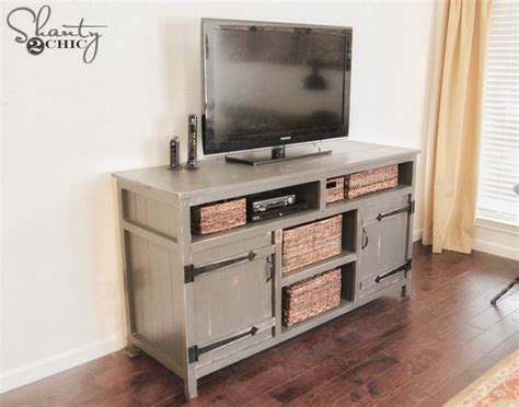 media center woodworking plans rustic media center free diy plans rogue engineer