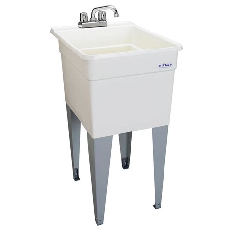 laundry sink mustee vector 22 in x 25 in fiberglass self multitask sink in white 25 the home depot