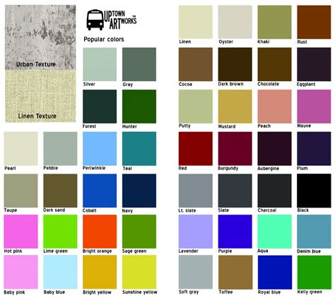 color pattern names fabric color chart with names www pixshark com images