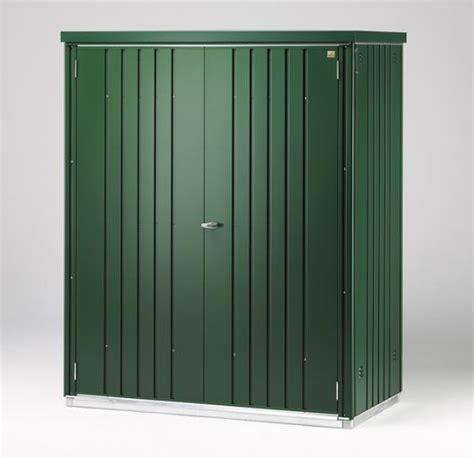 armario de jardin armario metalico biohort alto jardin color verde oscuro