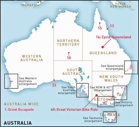 lakes in australia map australia s top 50 bike experiences rideon