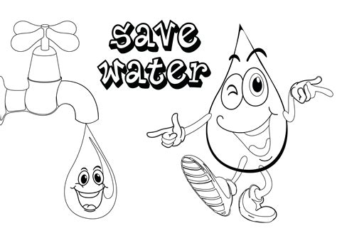 how to color water save water coloring pages save water coloring pages