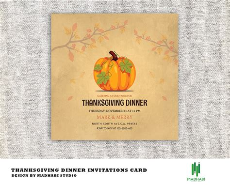 thanksgiving dinner invitations card invitation
