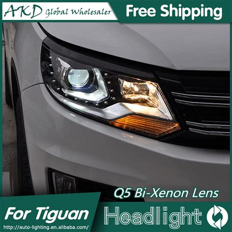 tiguan volkswagen lights akd car styling for vw tiguan headlights 2013 2015 new