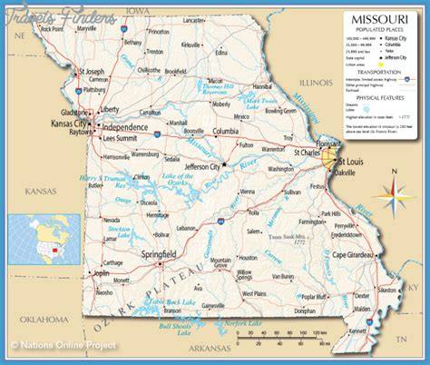 missouri map cares map of missouri travelsfinders