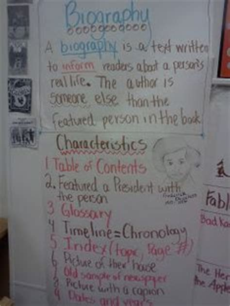 autobiography anchor chart anchor charts pinterest 1000 images about biographies for kids on pinterest