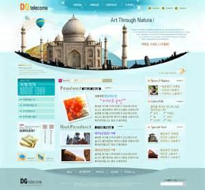 tourism website template psd layered 05 website templates