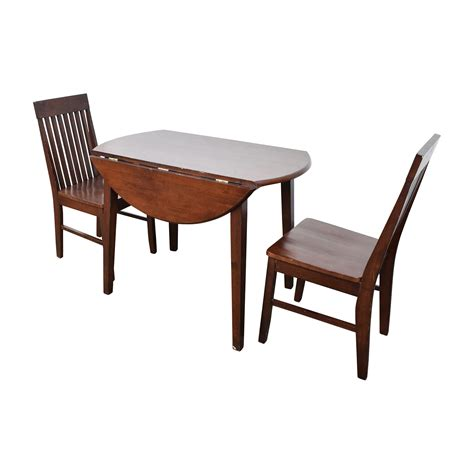 60 dining table with folding sides and chairs