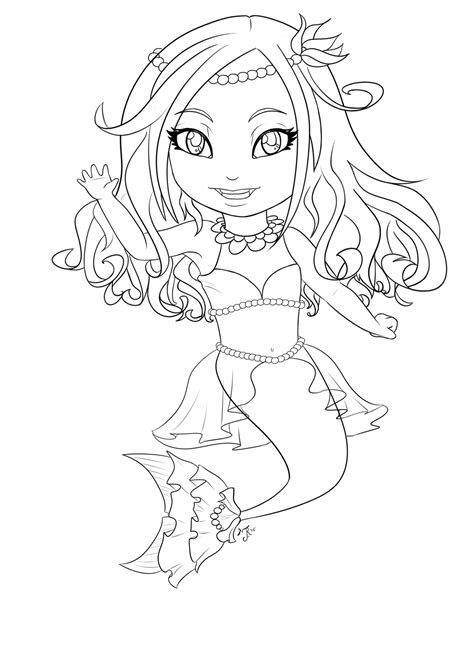 chibi mermaid lineart by kaitoucoon on deviantart chibi mermaid line art by meeowy on deviantart