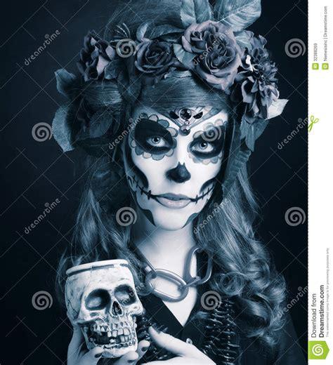 imagenes de halloween de la muerte santa muerte im 225 genes de archivo libres de regal 237 as