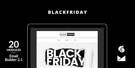 Blackfriday Email Template Online Builder 2 1 Theme For U Mailchimp Black Friday Template
