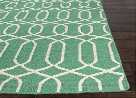 Emerald Green Bath Rugs District17 Rug In Emerald Green Flat Weave Rugs Patterned Rugs Fiber Rugs