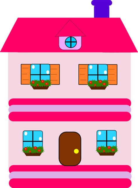 doll house cartoon pink doll house clip art at clker com vector clip art online royalty free public