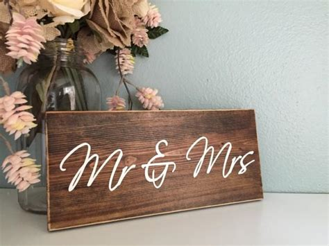 mr mrs rustic wood wedding sign rustic home decor sign