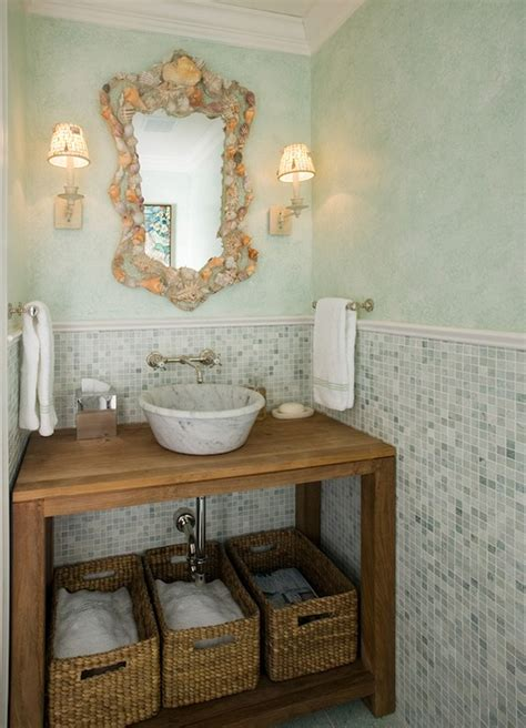 phoebe howard bathrooms seashell mirror cottage bathroom phoebe howard