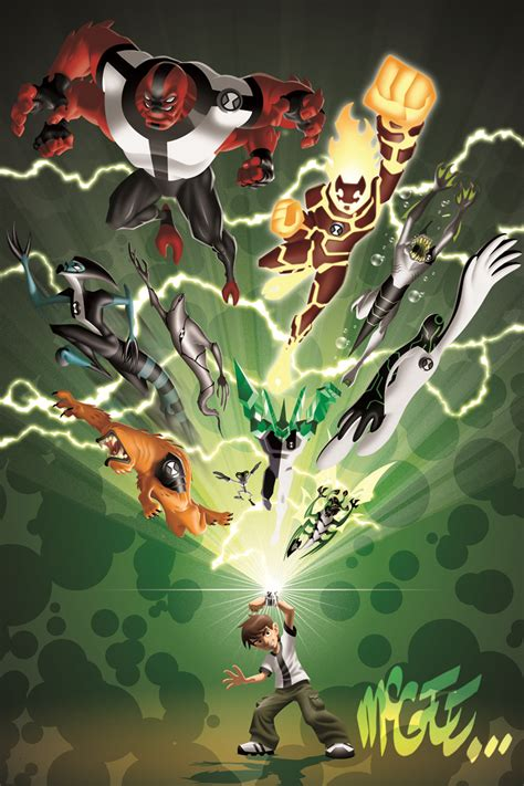 painting ben 10 the of brian mcgee ben10 poster