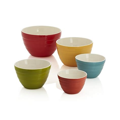 And Bowls set of 5 baker nesting bowls crate and barrel