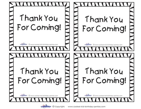 4 Best Images Of Printable Thank You For Coming Tags Free Printable Thank You Tags Free Thank You For Coming Tags Template