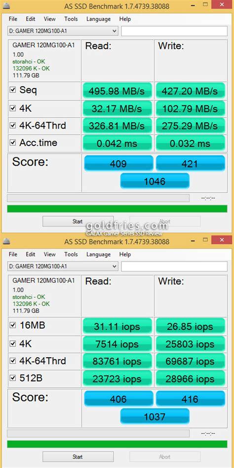 Ssd Galax Gamer L Series 240gb R 560mb S W 500 Mb S galax gamer series 120gb 240gb ssd review goldfries