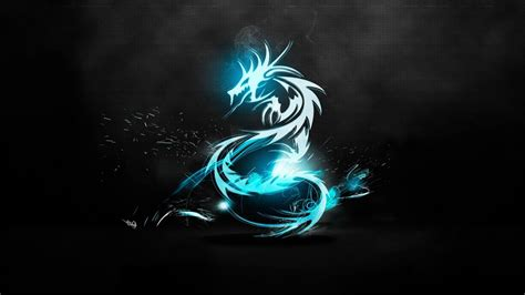 wallpaper cahaya biru wallpaper hitam ilustrasi merokok biru naga