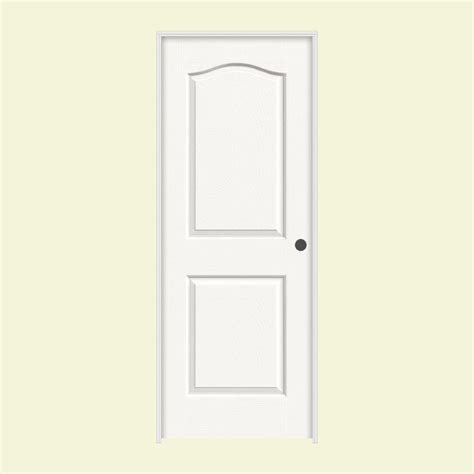 Jeld Wen Interior Doors Home Depot Jeld Wen 30 In X 80 In Camden White Painted Left Textured Solid Molded Composite Mdf