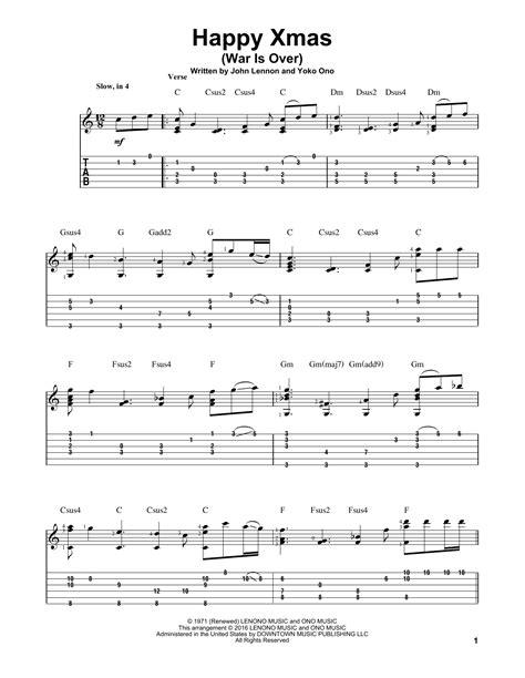 Strumming Pattern Happy Xmas War Over | john lennon happy xmas war is over sheet music