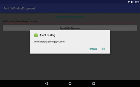 alertdialog android android er create dialogfragment with alertdialog builder