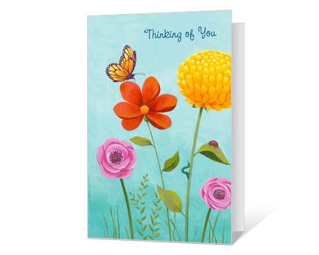 thinking of you card template free printable thinking of you cards american greetings