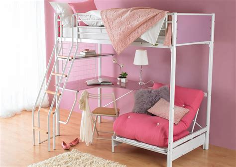 pink futon bunk bed with desk furniture great collection of metal bunk bed with desk