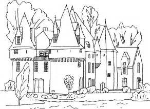 castle colour in colouring pages