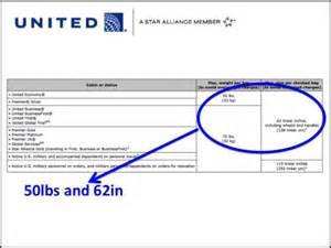 United Airlines Baggage Weight Limit by What Are The U S Airline Checked Baggage Limits Memory