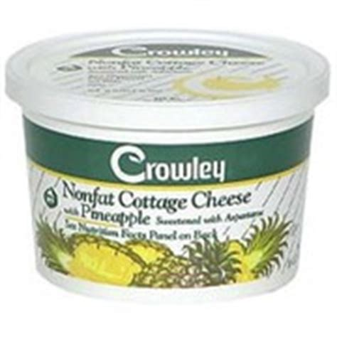 crowley cottage cheese nonfat pineapple calories