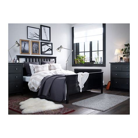 hemnes bed hemnes bed frame black brown lur 246 y 140x200 cm ikea