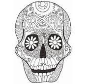 Dibujo Halloween Calavera  Dibujos Para Colorear
