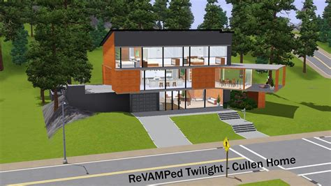 Mod The Sims Twilight Cullen Home Now With 4 Bedrooms Floor Plan Twilight House