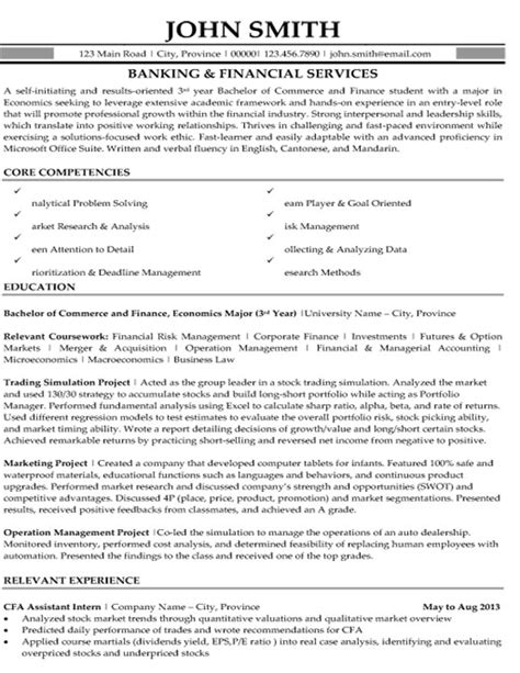 financial services resume template banking and financial services resume template premium