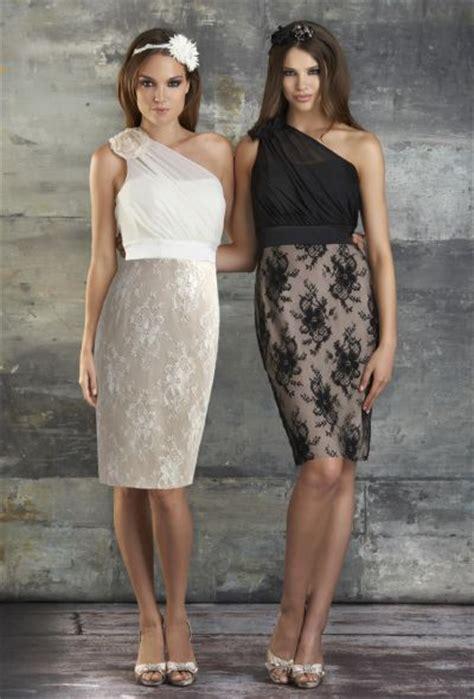 Bj 7826 Black Lace Dress bari 679 one shoulder lace bridesmaid dress