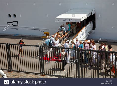 Ship Boarding Boarding Queue On The Quay At Langelinie When The P O