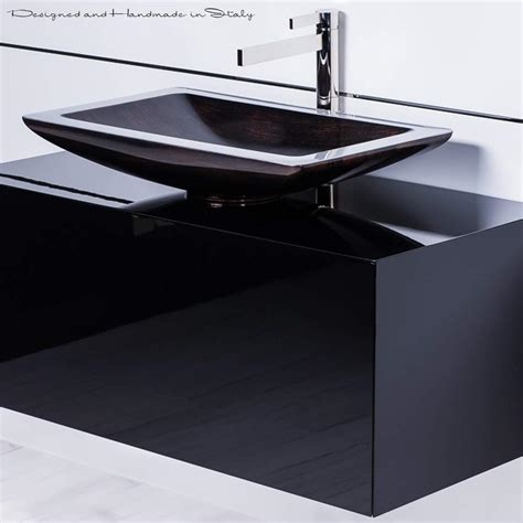 vessel sink and faucet combo 40 inch black bathroom vanity with rectangular vessel sink
