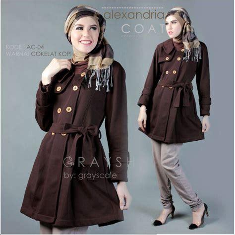 Coat Muslimah grosir coat muslimah wanita kekinian bisa dropship jaket