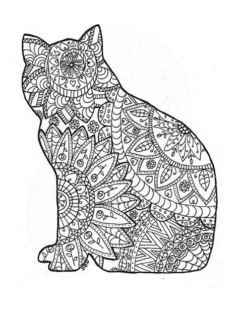 146 Best Images About Arte Terapia On Pinterest Dovers Cat Coloring Pages For Adults