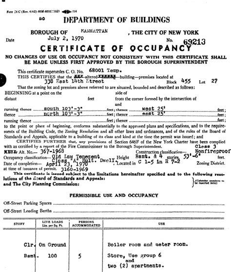 certificate of occupancy template permanent record the orphan who became the matriarch of