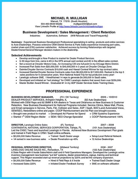 salesman resume sles captivating car salesman resume ideas for flawless resume