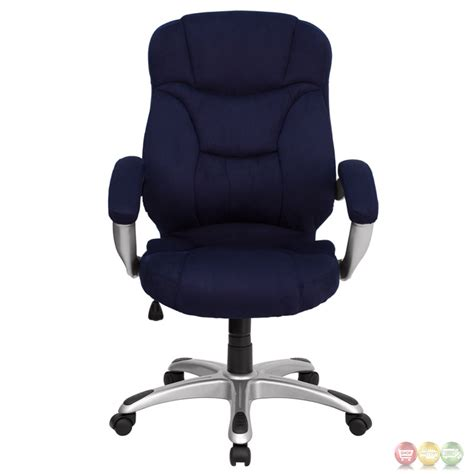 Microfiber Office Chair by High Back Navy Blue Microfiber Upholstered Office Chair Go 725 Nvy Gg