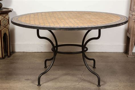 mosaic dining room table outdoor mosaic tile table at 1stdibs