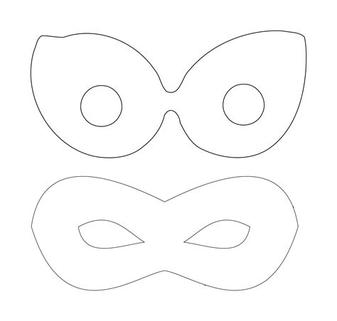 clipart superhero mask template
