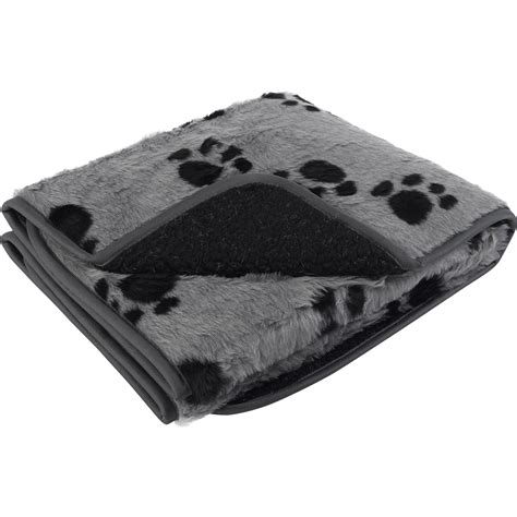paw print comforter warm cosy dog puppy comforter blanket pet face sherpa