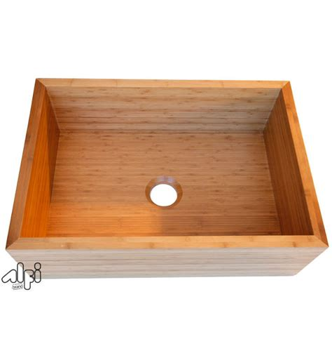 alfi brand ab3021 single bowl bamboo kitchen farm sink