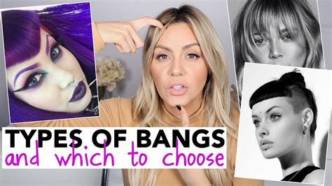 How Many Types Of Hair Bangs Are There | all types of bangs and which to choose youtube