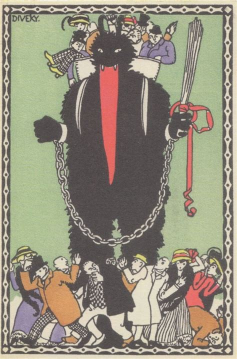 A Collection of Creepy Vintage Krampus Christmas Postcards in the Book 'Devil in Design'